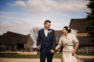 Carlie & Simon at Great Tythe Barn Tetbury