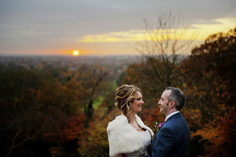 A late Autumn wedding in Richmond Park