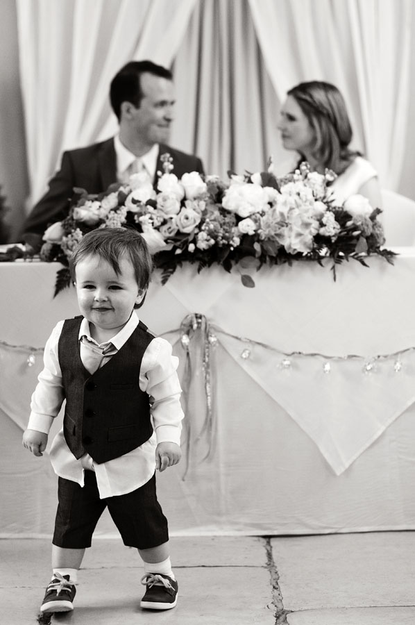 The newlyweds son steals the limelight