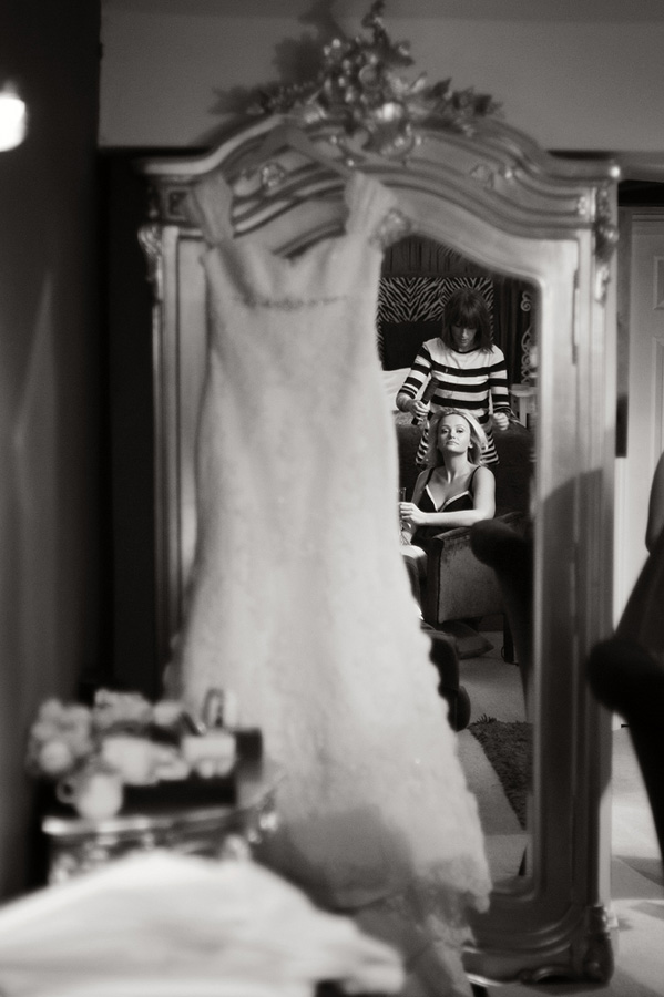 Bridal prep reflection image