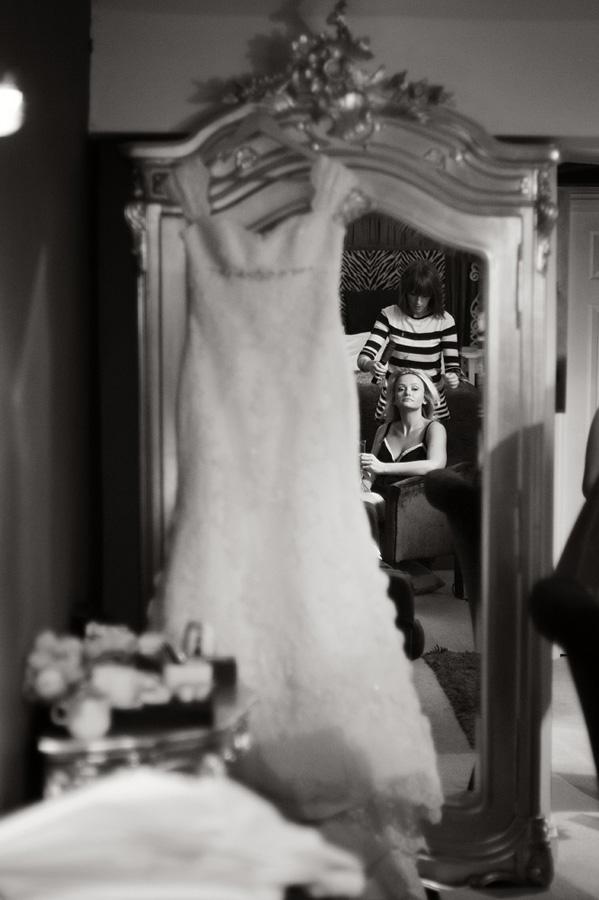 Bridal prep reflection image