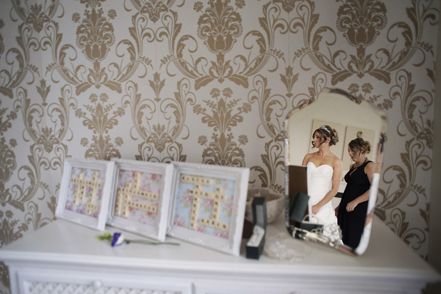 Bridal prep reflection shot
