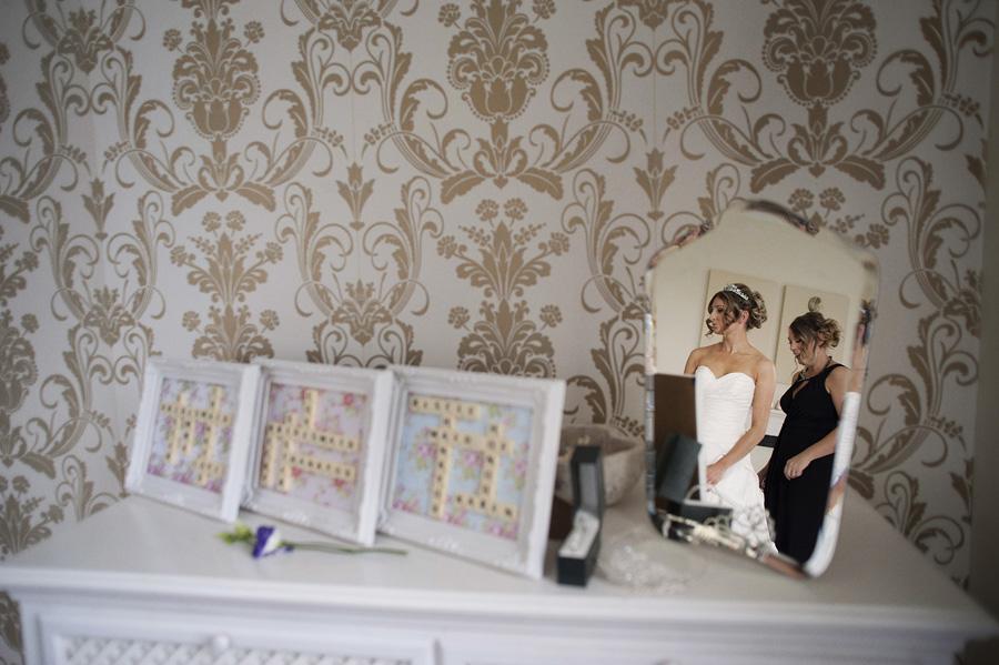 Bridal prep reflection shot