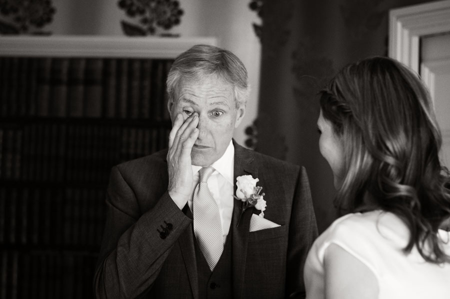 An emotional father of the bride